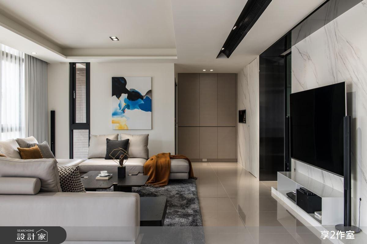 80坪新成屋(5年以下)_現代風客廳案例圖片_享享室內設計_享享_01之2