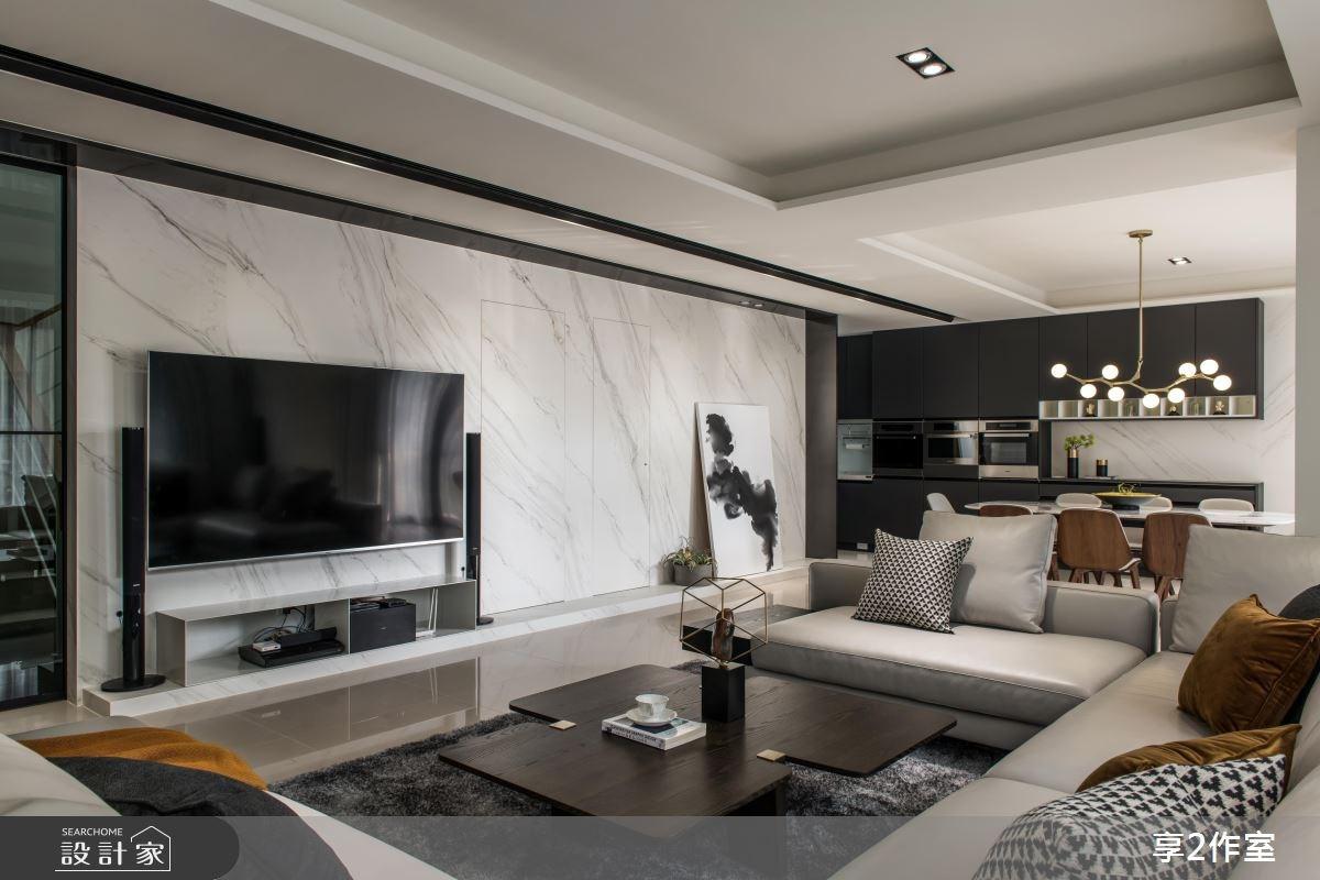 80坪新成屋(5年以下)_現代風客廳餐廳案例圖片_享享室內設計_享享_01之5