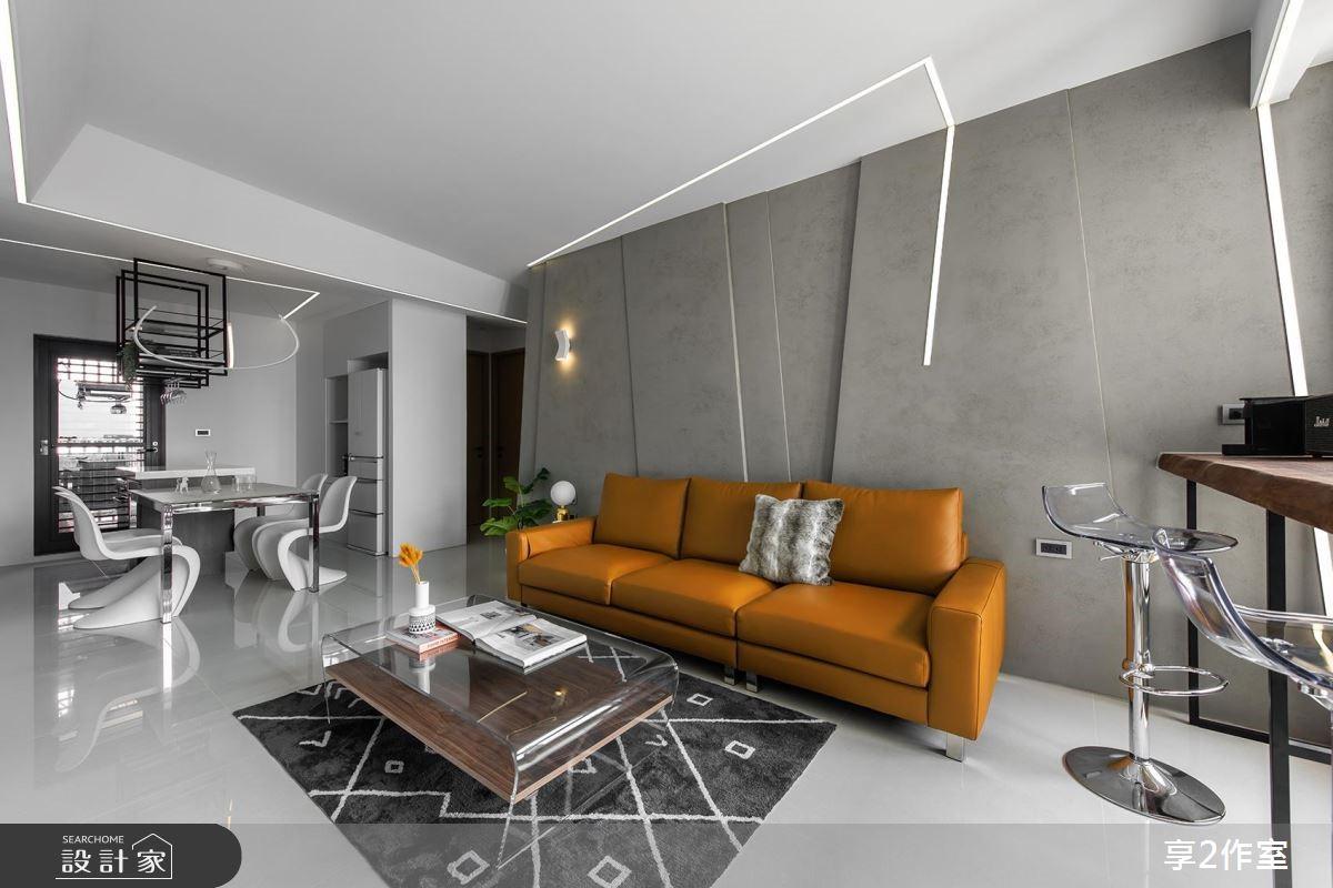 20坪新成屋(5年以下)_現代風客廳案例圖片_享享室內設計_享享_02之4