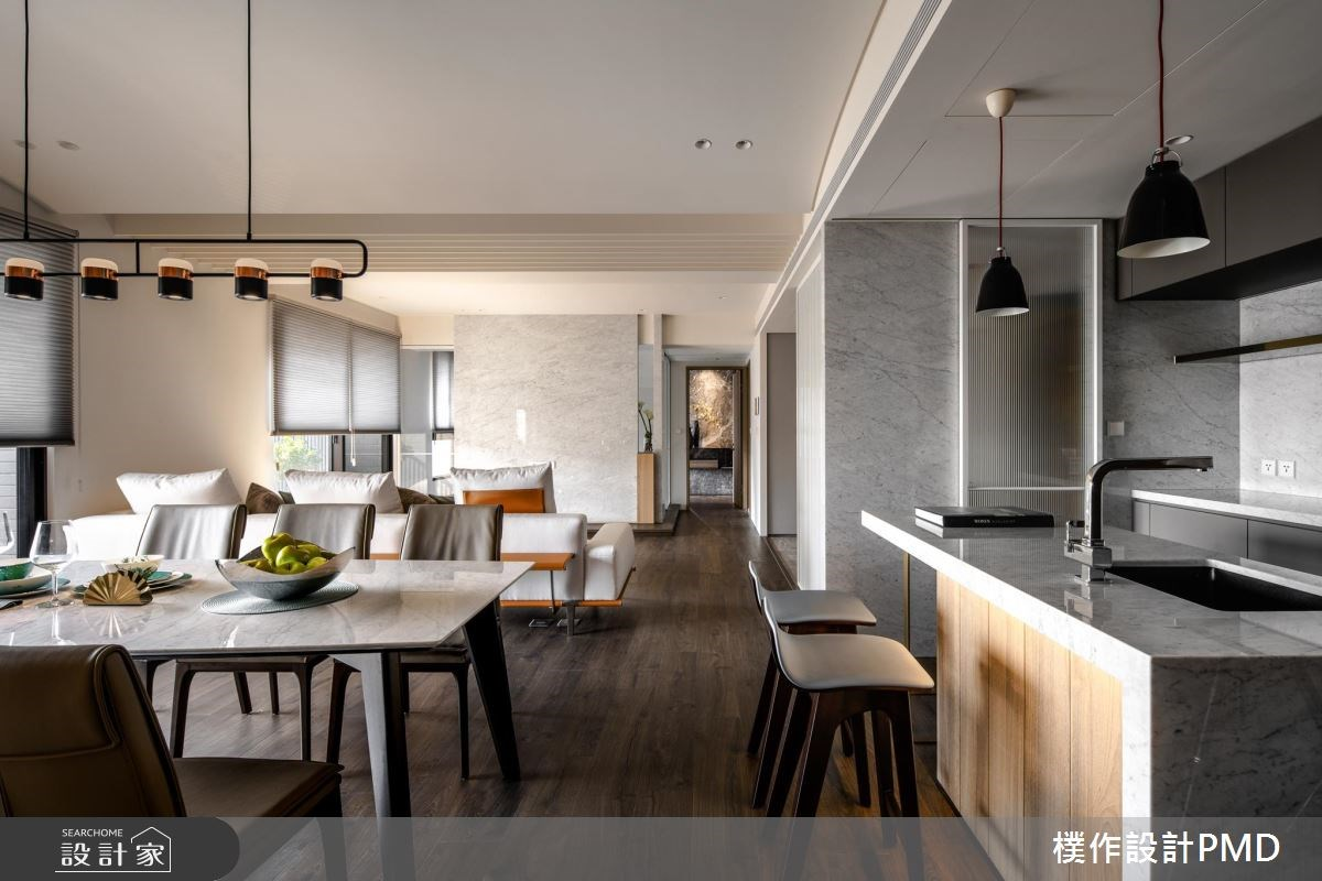 50坪新成屋(5年以下)_現代風客廳餐廳吧檯案例圖片_樸作設計有限公司/PMD_樸作_11之8