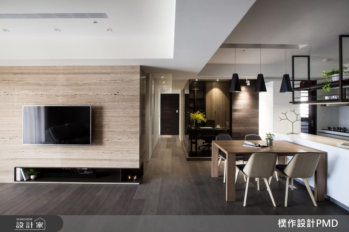 26坪新成屋(5年以下)_現代風客廳餐廳廚房吧檯走廊案例圖片_樸作設計有限公司/PMD_樸作_08之4