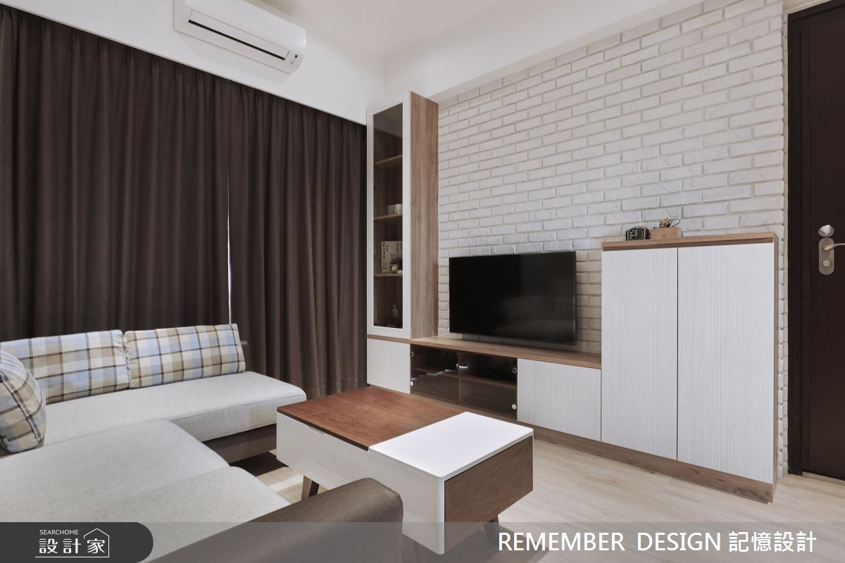 18坪預售屋_北歐風客廳案例圖片_記憶設計_記憶_04之3
