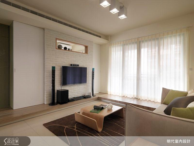 20坪新成屋(5年以下)_休閒風客廳案例圖片_明代室內裝修設計有限公司_明代_11之3