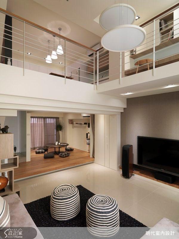 80坪新成屋(5年以下)_休閒風客廳案例圖片_明代室內裝修設計有限公司_明代_12之3