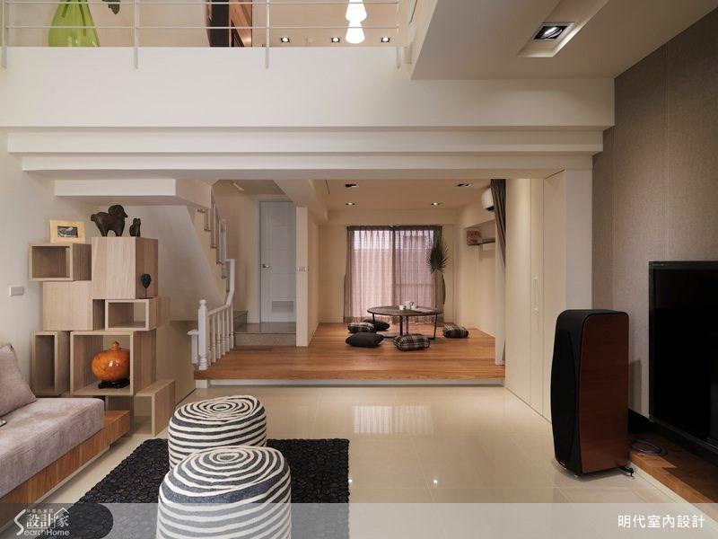 80坪新成屋(5年以下)_休閒風客廳案例圖片_明代室內裝修設計有限公司_明代_12之4