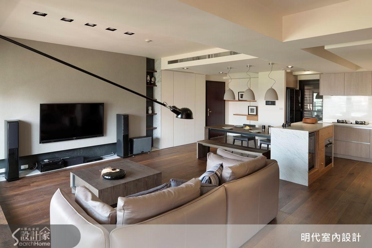 31坪預售屋_休閒風客廳案例圖片_明代室內裝修設計有限公司_明代_13之1
