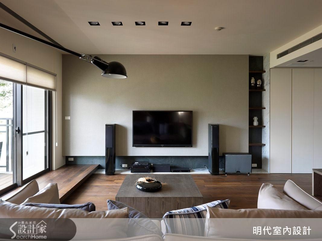 31坪預售屋_休閒風客廳案例圖片_明代室內裝修設計有限公司_明代_13之2