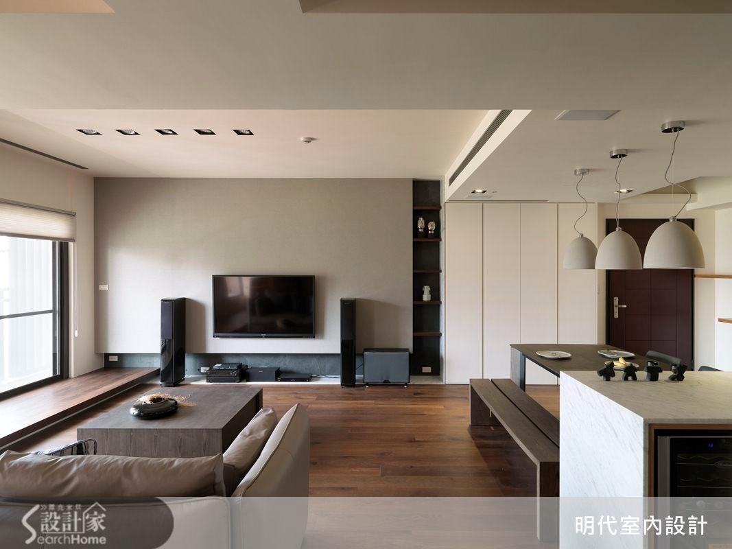 31坪預售屋_休閒風客廳案例圖片_明代室內裝修設計有限公司_明代_13之3
