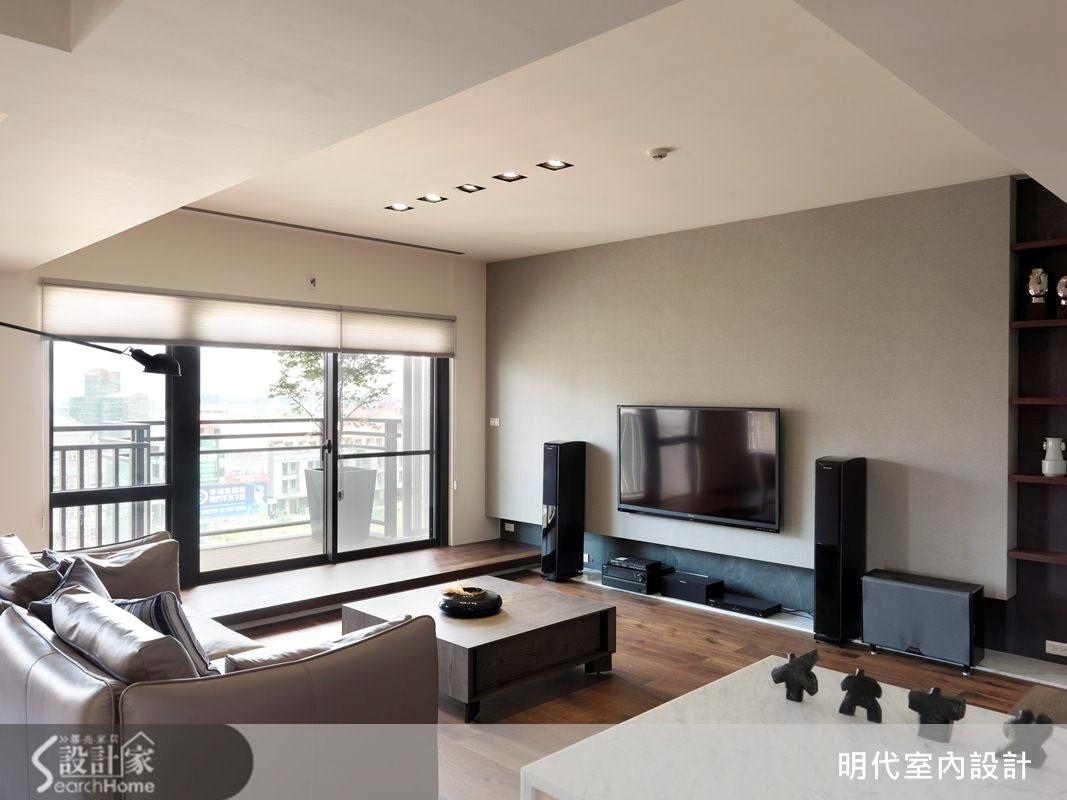 31坪預售屋_休閒風客廳案例圖片_明代室內裝修設計有限公司_明代_13之4