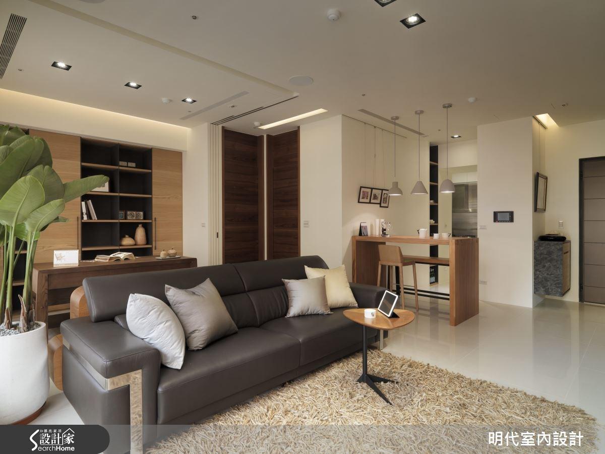 28坪新成屋(5年以下)_療癒風客廳案例圖片_明代室內裝修設計有限公司_明代_14之1