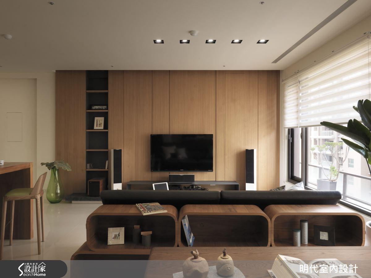 28坪新成屋(5年以下)_療癒風客廳案例圖片_明代室內裝修設計有限公司_明代_14之5