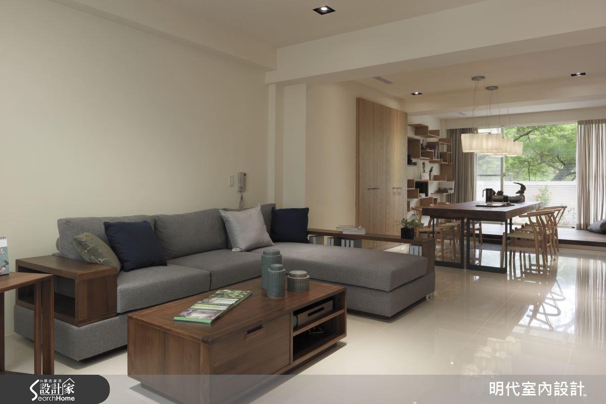 85坪新成屋(5年以下)_休閒風客廳案例圖片_明代室內裝修設計有限公司_明代_17之2