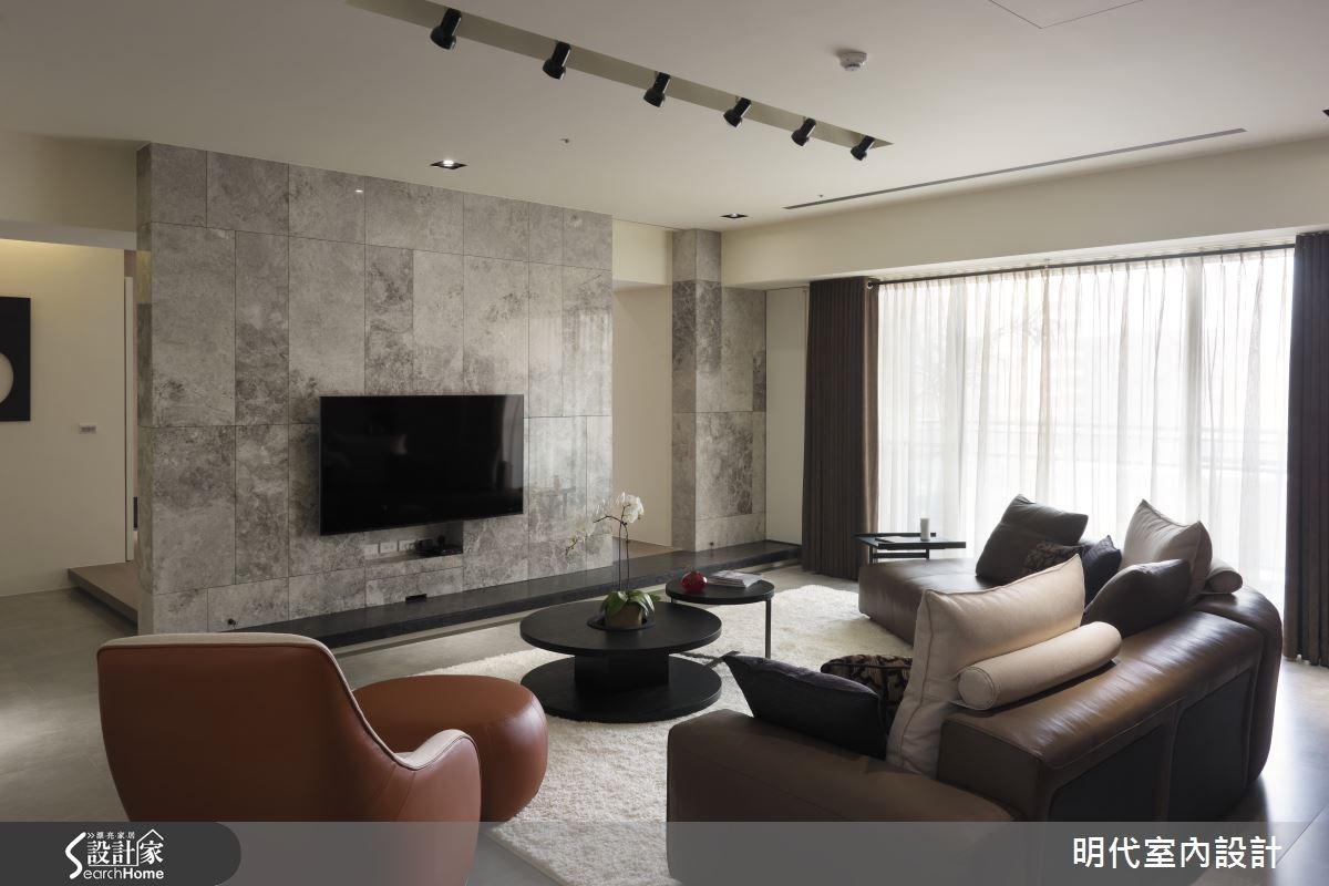 64坪_現代風客廳案例圖片_明代室內裝修設計有限公司_明代_18之4
