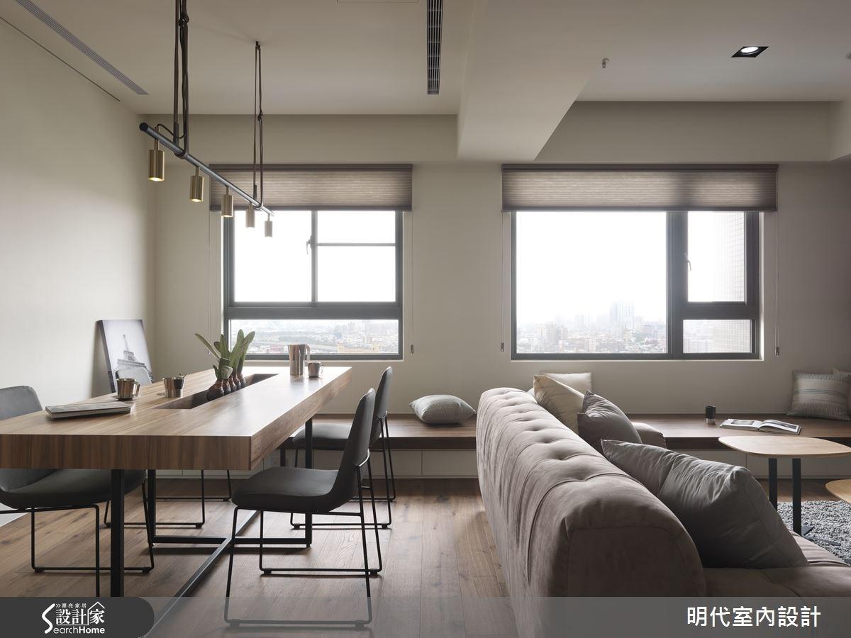 30坪新成屋(5年以下)_現代風餐廳案例圖片_明代室內裝修設計有限公司_明代_21之11