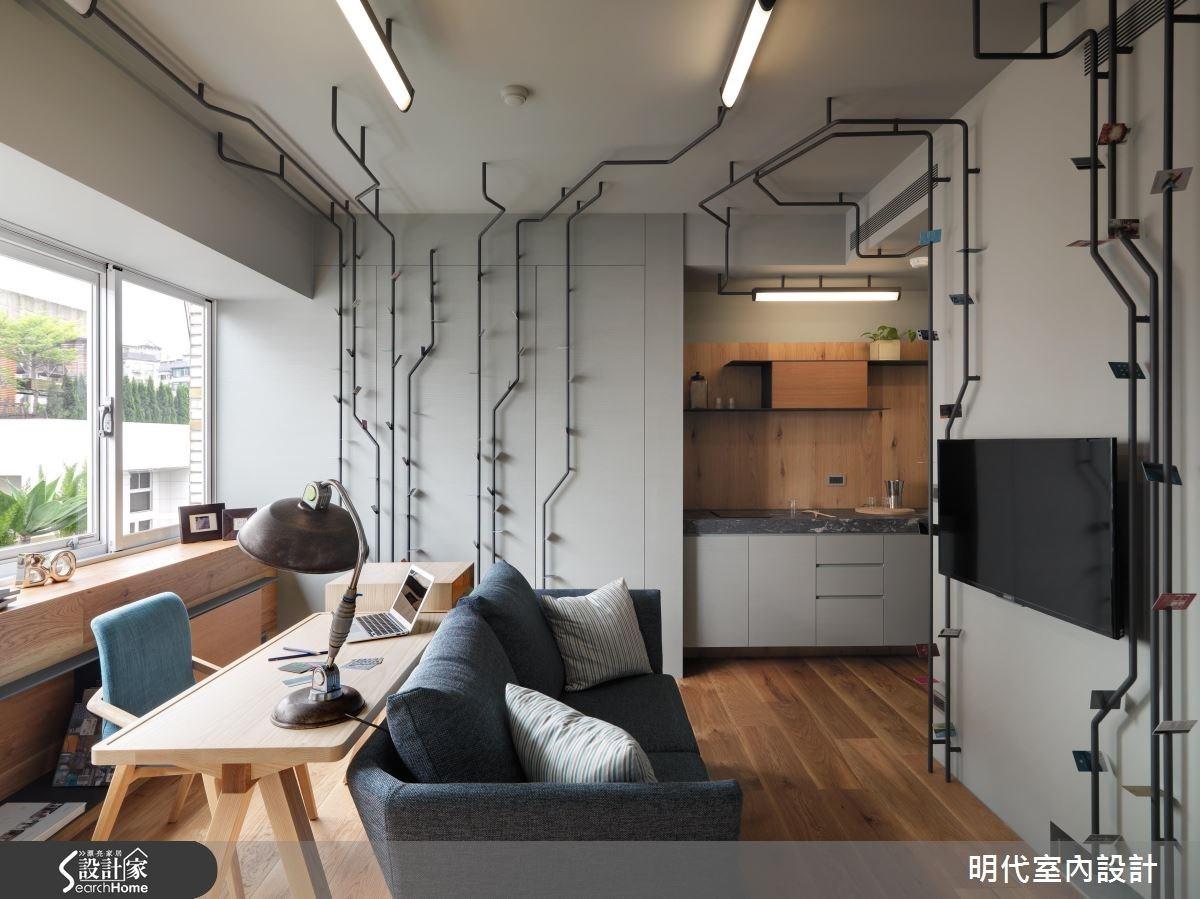 10坪中古屋(5~15年)_現代風案例圖片_明代室內裝修設計有限公司_明代_22之3