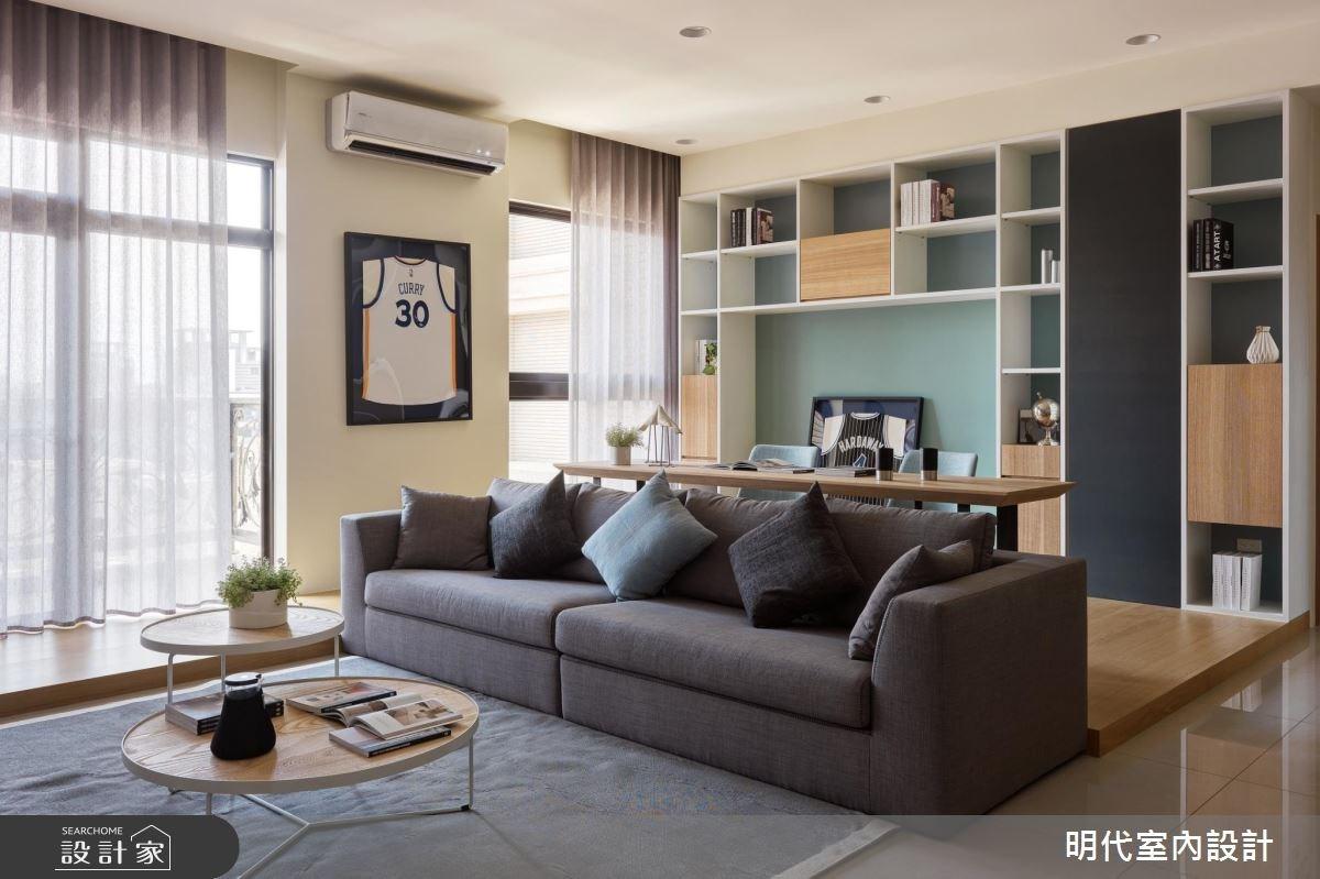 40坪新成屋(5年以下)_現代風客廳案例圖片_明代室內裝修設計有限公司_明代_28之2
