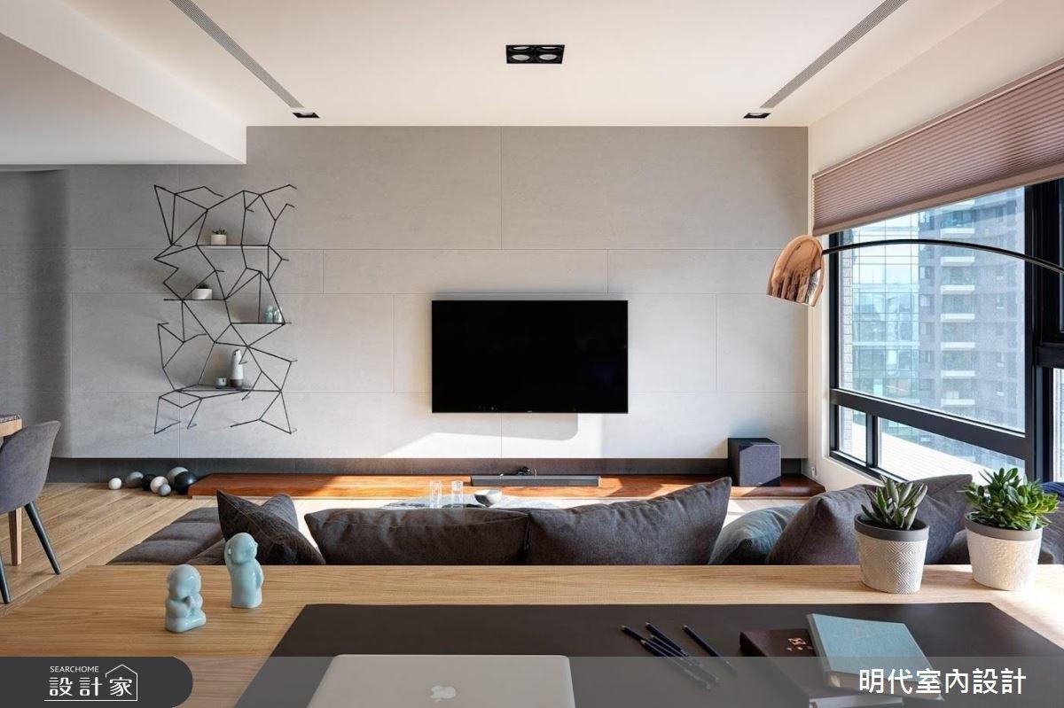 40坪新成屋(5年以下)_現代風客廳工作區案例圖片_明代室內裝修設計有限公司_明代_29之14