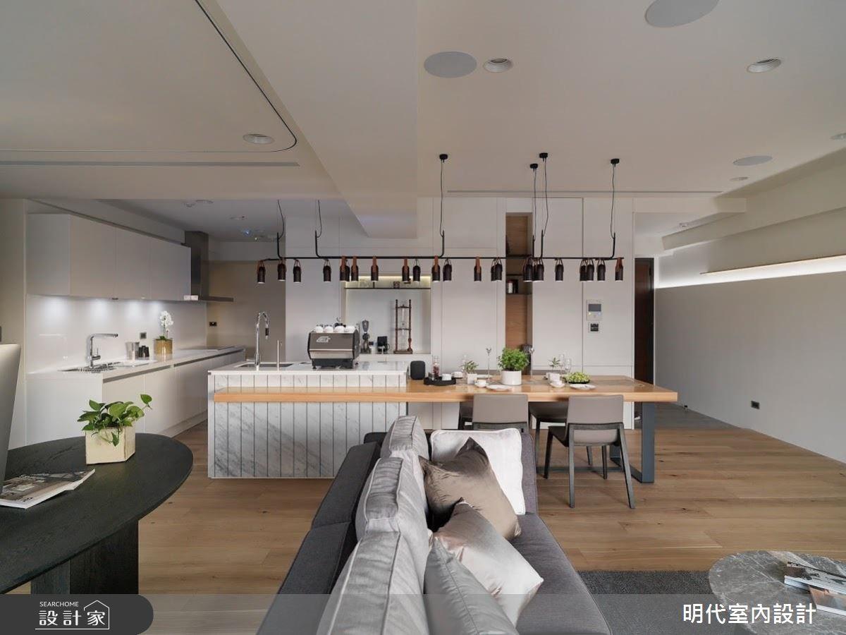 50坪新成屋(5年以下)_現代風餐廳吧檯案例圖片_明代室內裝修設計有限公司_明代_31之4
