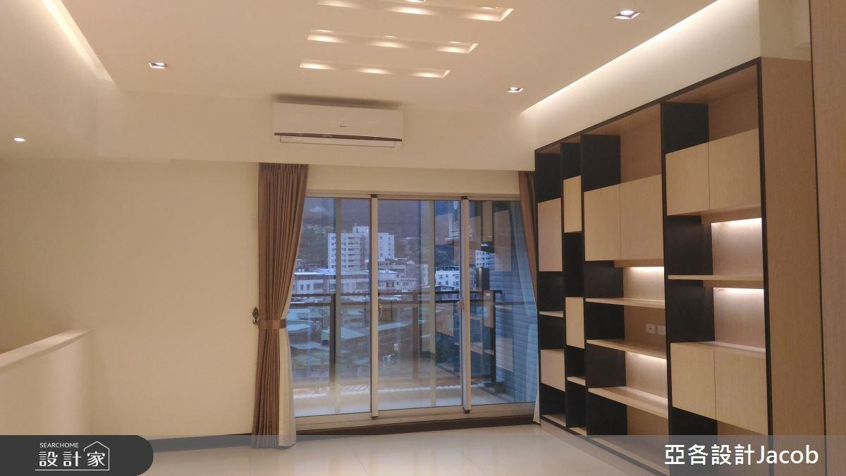 35坪預售屋_簡約風客廳案例圖片_亞各室內裝修工程有限公司_亞各_01之2
