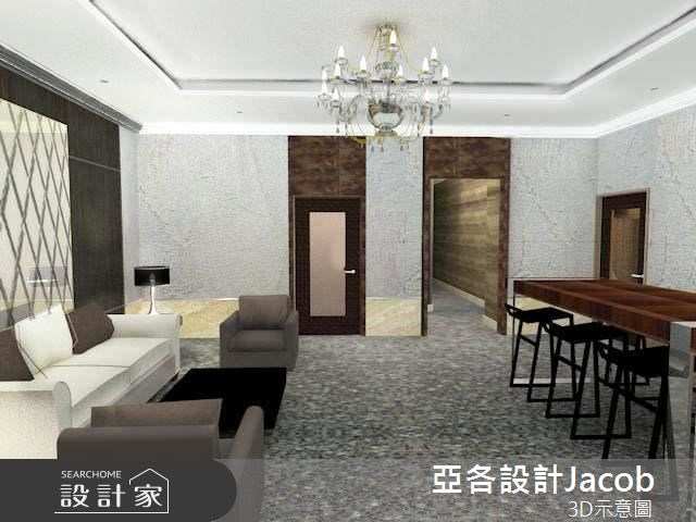180坪預售屋_奢華風客廳餐廳案例圖片_亞各室內裝修工程有限公司_亞各_02之3