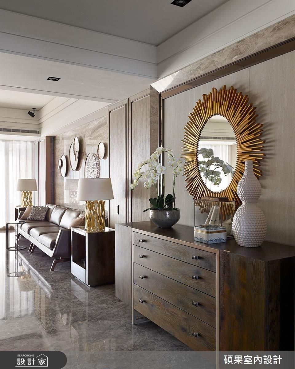 72坪新成屋(5年以下)_奢華風客廳案例圖片_碩果室內裝修設計有限公司_碩果_02之3