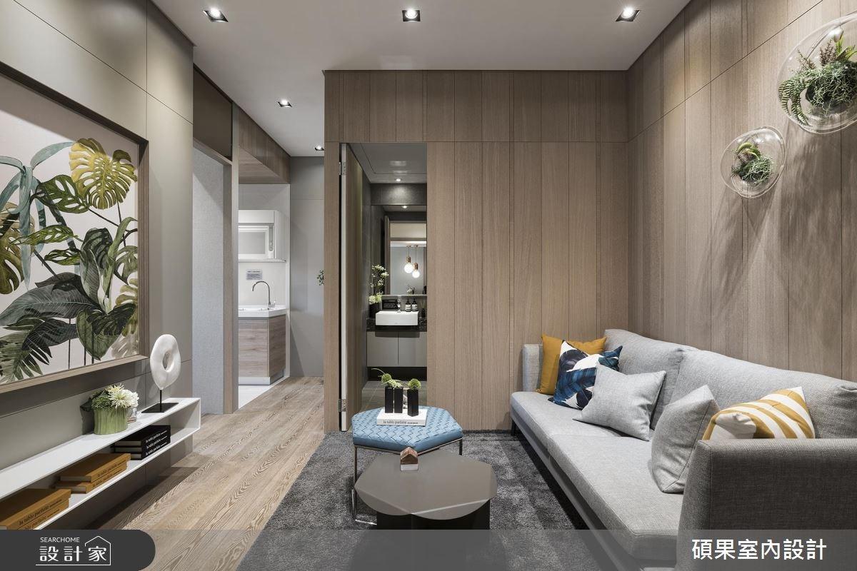 15坪新成屋(5年以下)_現代風客廳案例圖片_碩果室內裝修設計有限公司_碩果_04之3