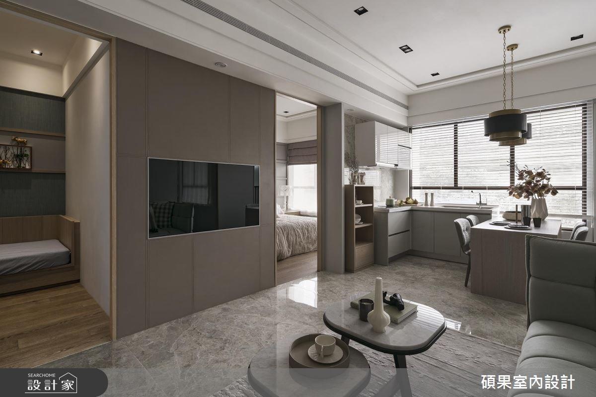 22坪新成屋(5年以下)_美式風客廳案例圖片_碩果室內裝修設計有限公司_碩果_05之4