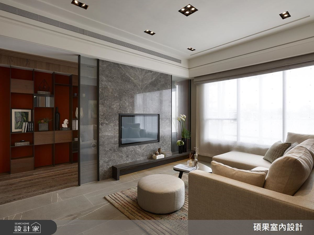 30坪新成屋(5年以下)_現代風客廳案例圖片_碩果室內裝修設計有限公司_碩果_06之3