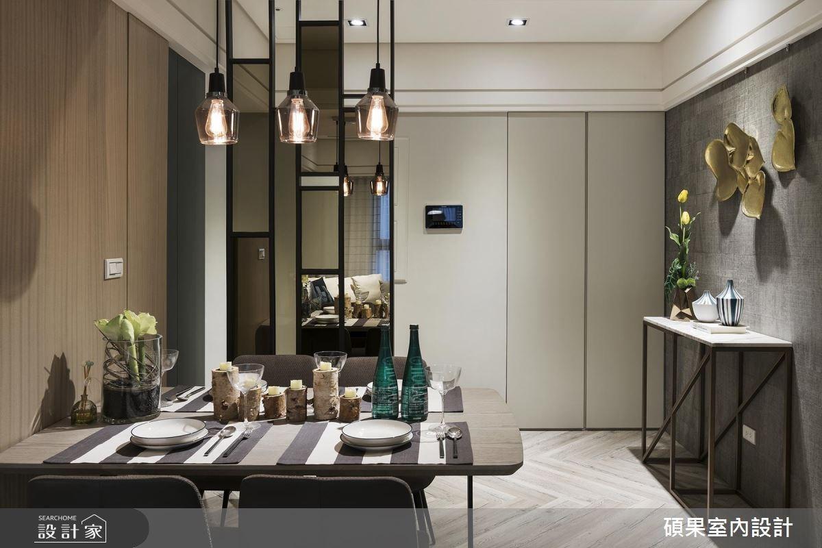 25坪新成屋(5年以下)_現代風餐廳案例圖片_碩果室內裝修設計有限公司_碩果_07之3