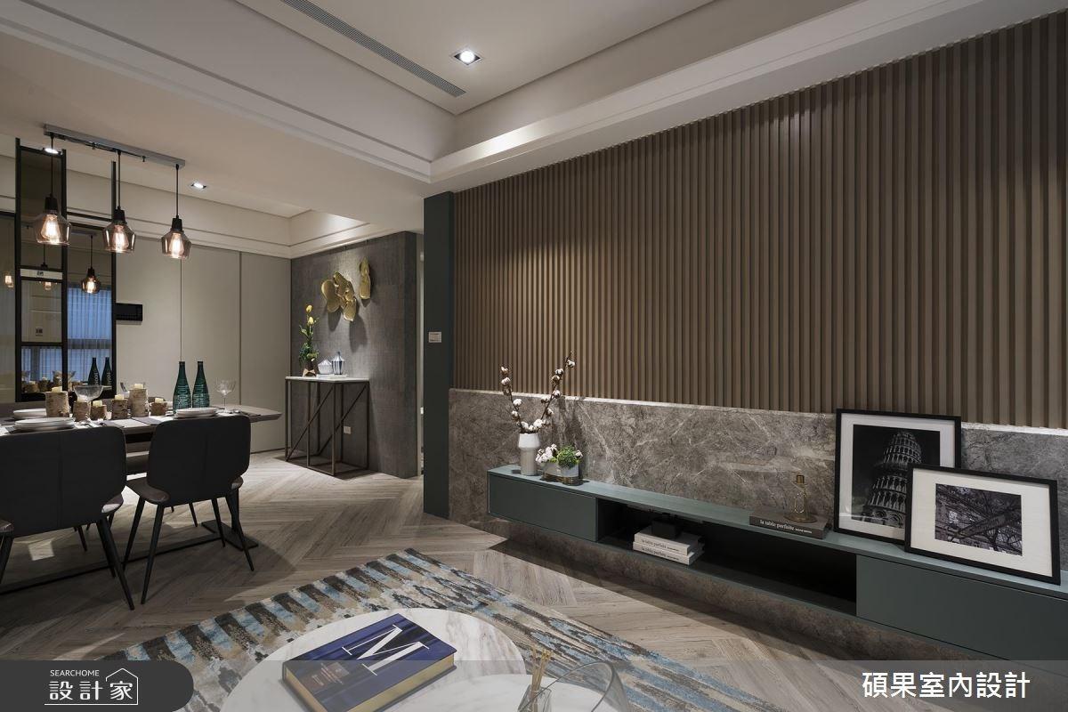 25坪新成屋(5年以下)_現代風客廳案例圖片_碩果室內裝修設計有限公司_碩果_07之4