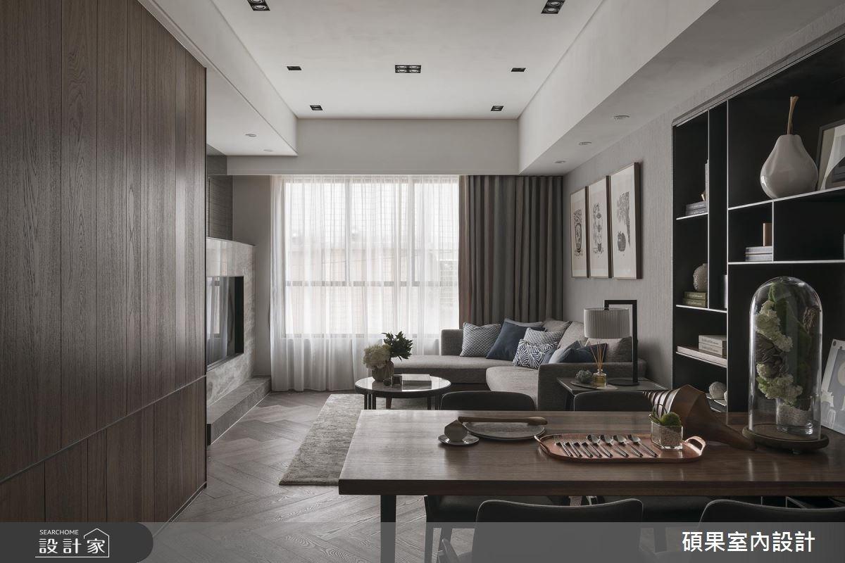 35坪新成屋(5年以下)_現代風餐廳案例圖片_碩果室內裝修設計有限公司_碩果_12之1