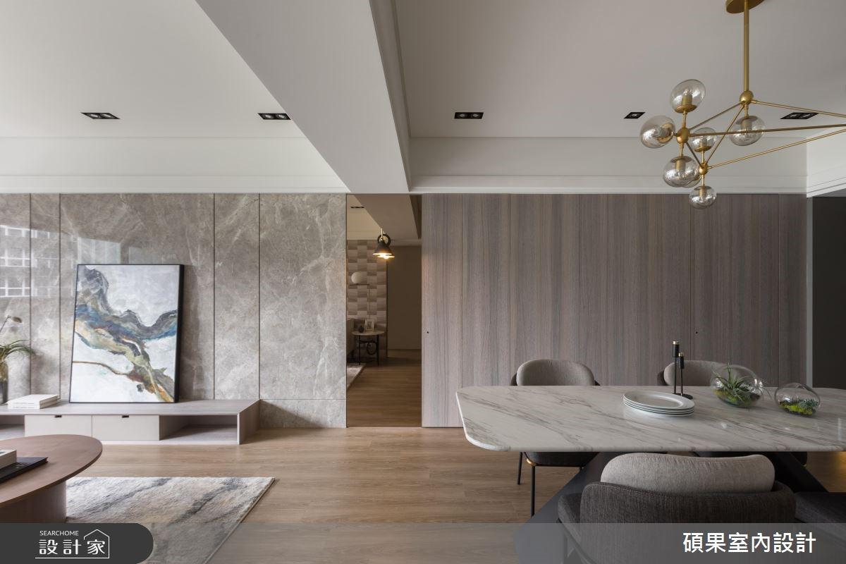 32坪新成屋(5年以下)_現代風客廳餐廳案例圖片_碩果室內裝修設計有限公司_碩果_16之4