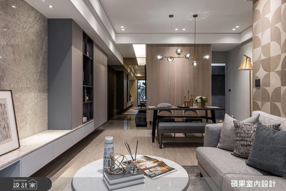 25坪新成屋(5年以下)_現代風客廳餐廳案例圖片_碩果室內裝修設計有限公司_碩果_18之4