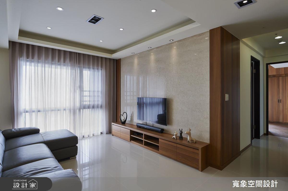 25坪新成屋(5年以下)_混搭風客廳案例圖片_寬象空間室內裝修有限公司_寬象_02之4