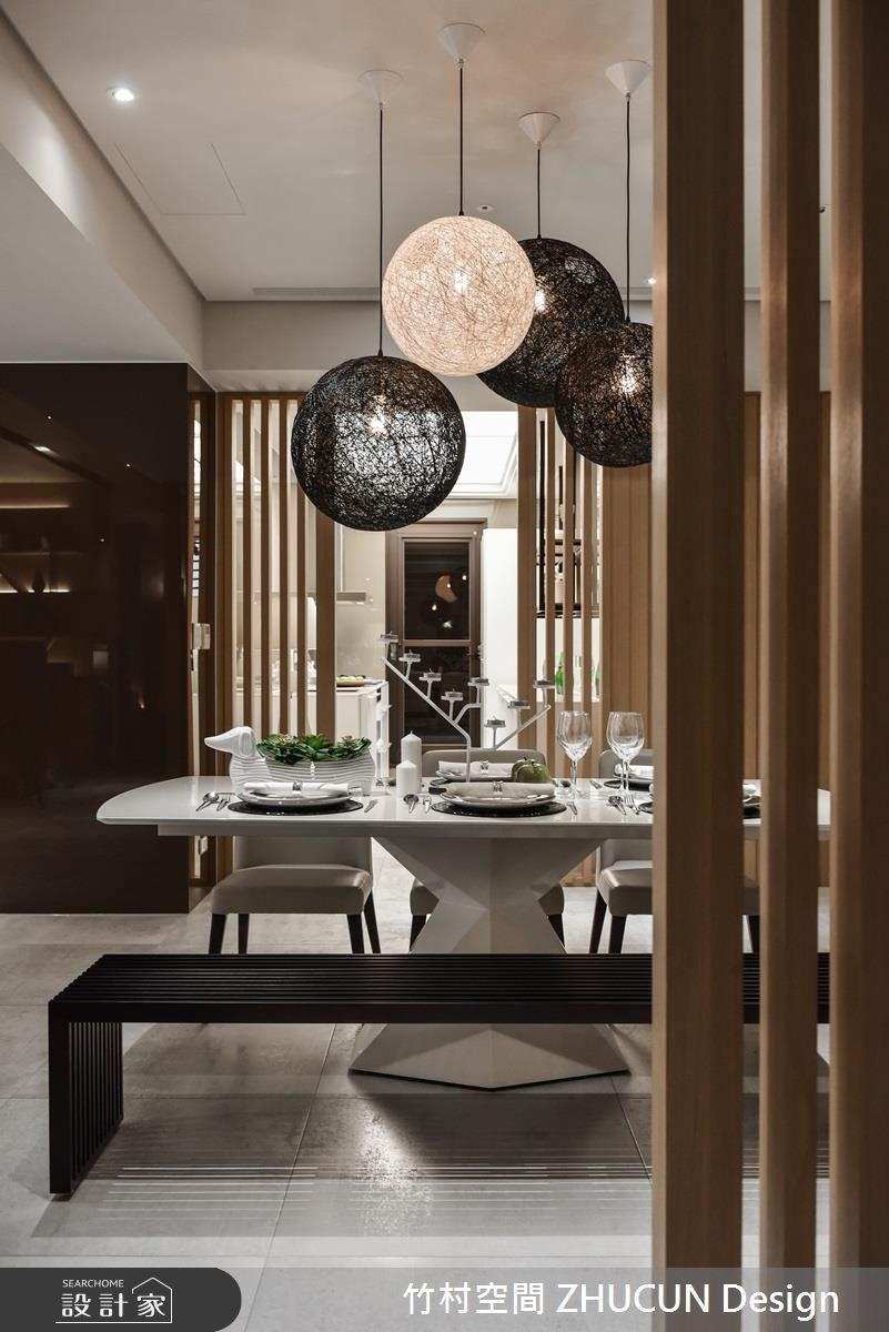 40坪新成屋(5年以下)_新中式風餐廳案例圖片_竹村空間 ZHUCUN Design_竹村_02之2