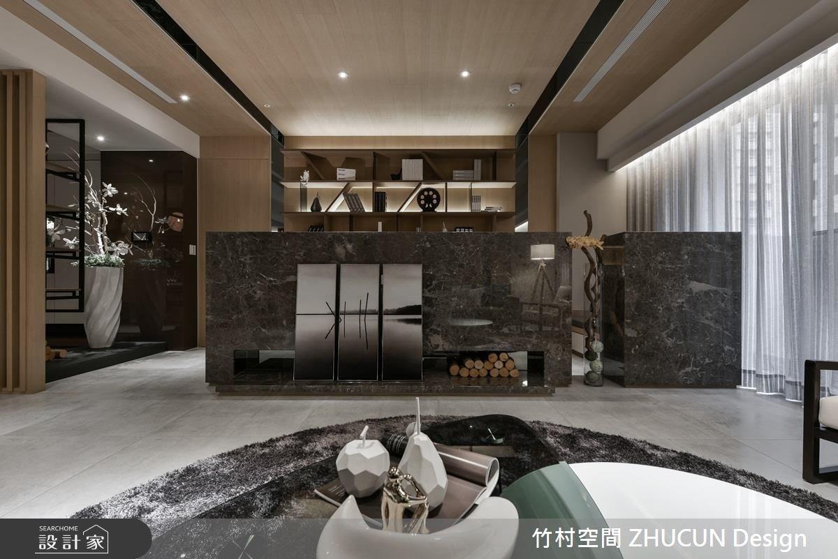 40坪新成屋(5年以下)_新中式風客廳案例圖片_竹村空間 ZHUCUN Design_竹村_02之4