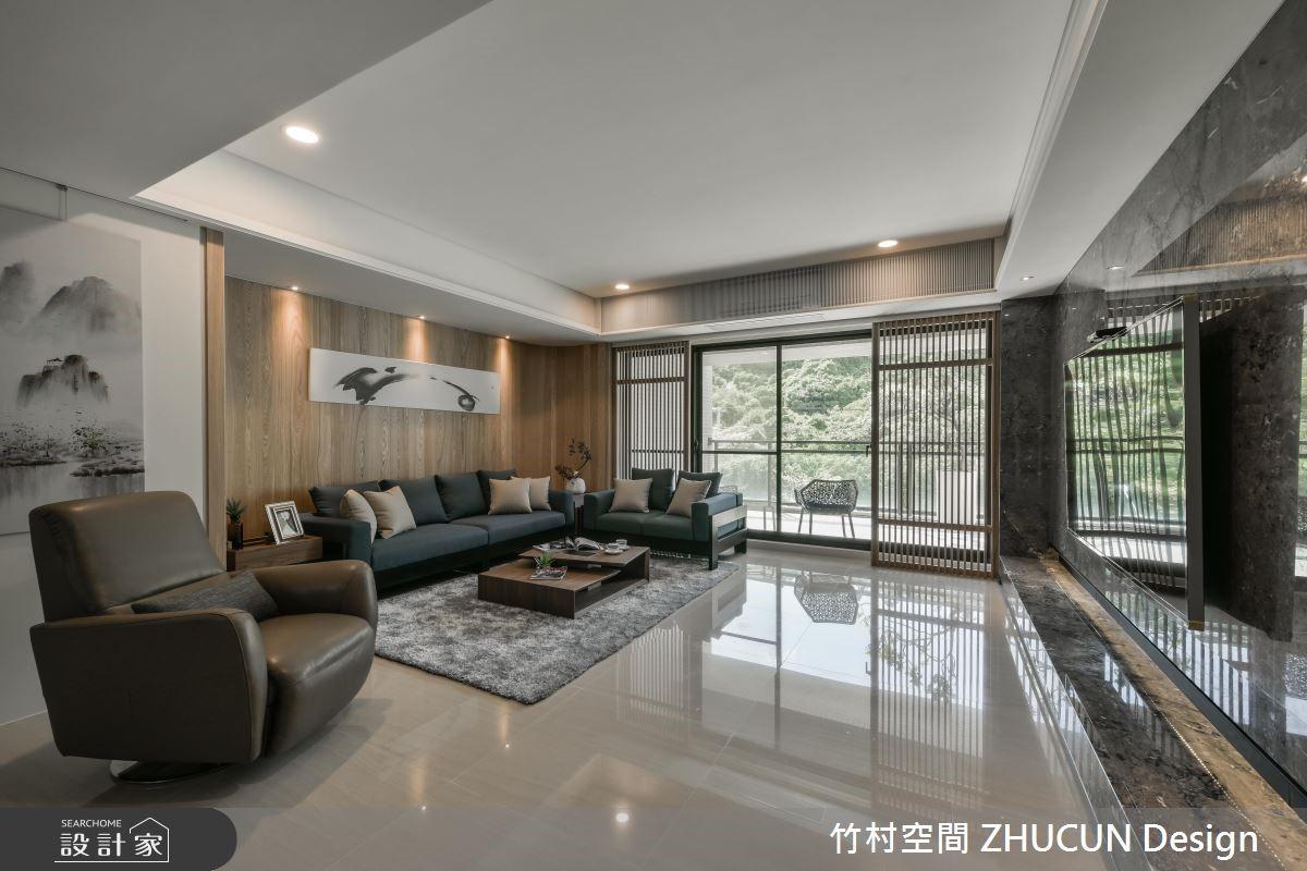 65坪新成屋(5年以下)_新中式風客廳案例圖片_竹村空間 ZHUCUN Design_竹村_07之2