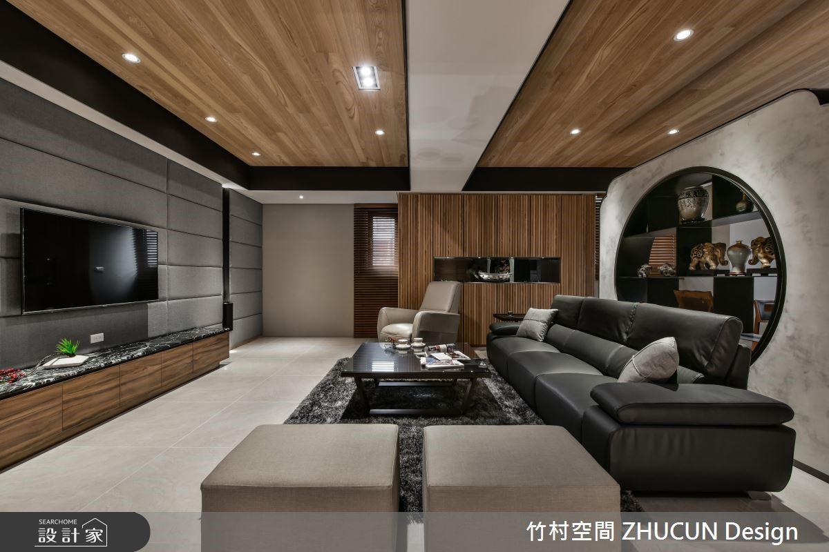 75坪新成屋(5年以下)_新中式風客廳案例圖片_竹村空間 ZHUCUN Design_竹村_08之4