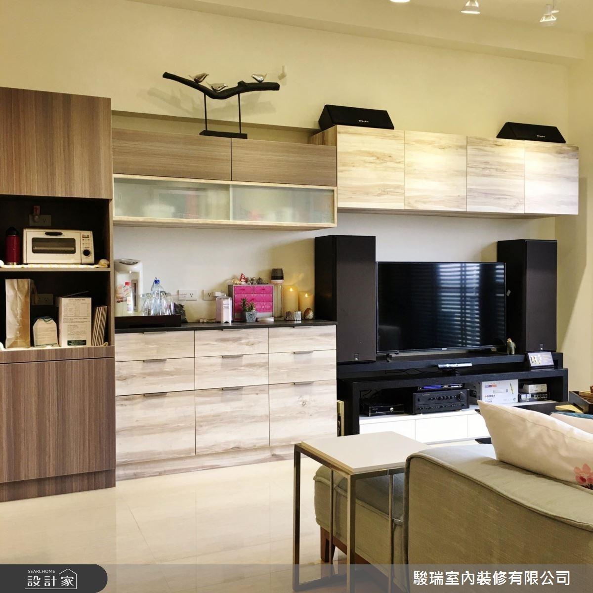 28坪新成屋(5年以下)_現代風客廳案例圖片_駿瑞室內裝修有限公司_駿瑞_05之5