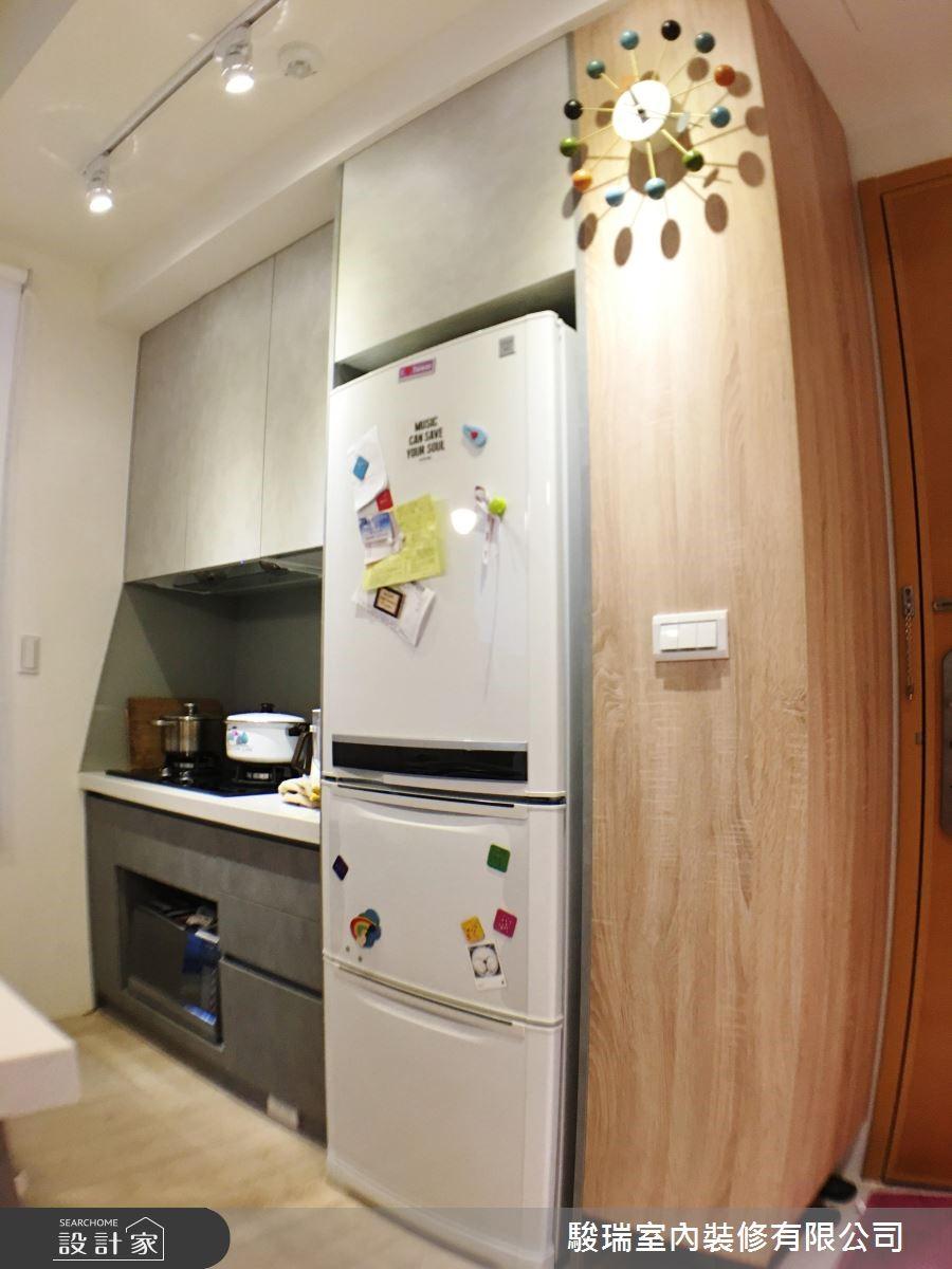 17坪新成屋(5年以下)_混搭風廚房案例圖片_駿瑞室內裝修有限公司_駿瑞_07之4