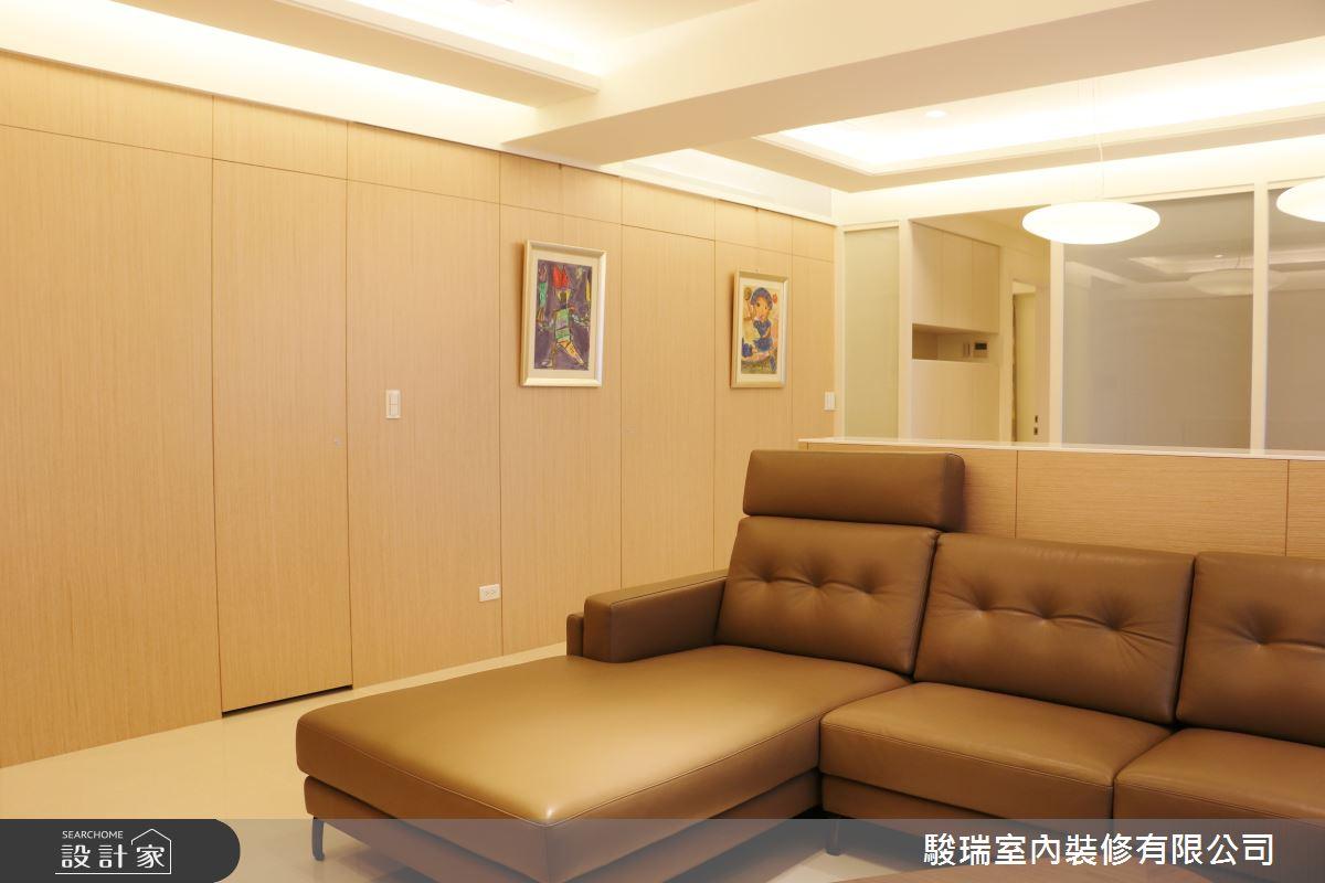 40坪新成屋(5年以下)_簡約風客廳案例圖片_駿瑞室內裝修有限公司_駿瑞_12之4