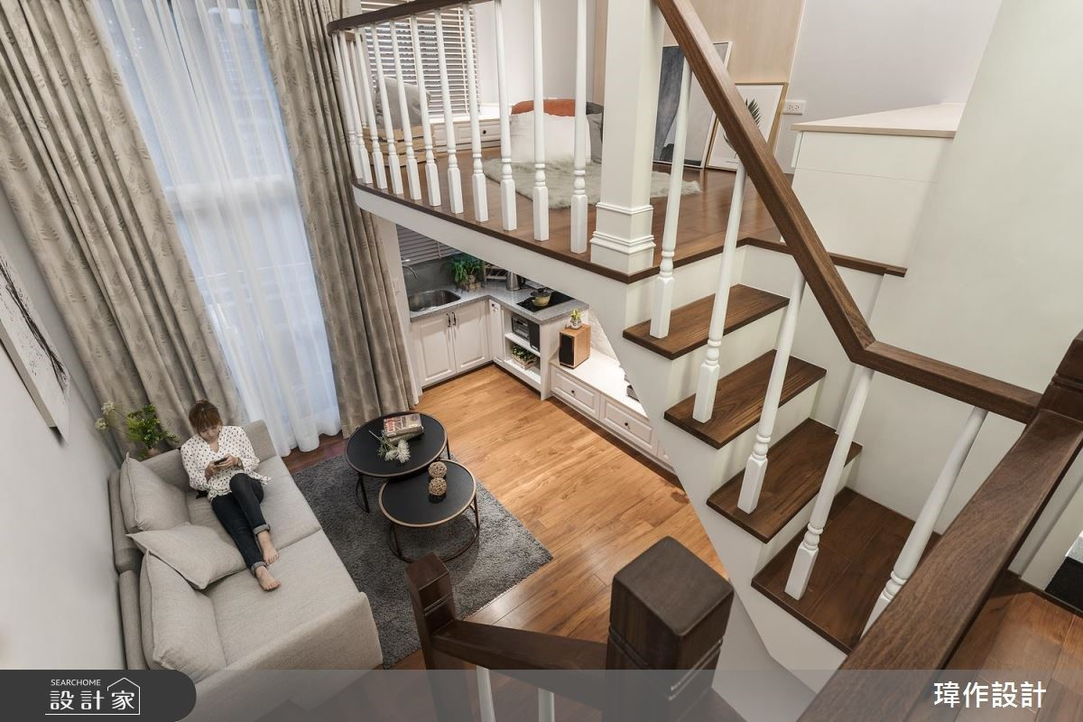 13坪老屋(16~30年)_美式風客廳樓梯案例圖片_瑋作設計有限公司_瑋作_品味之8