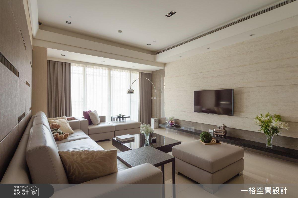 40坪預售屋_混搭風客廳案例圖片_一格設計有限公司_一格_04之4