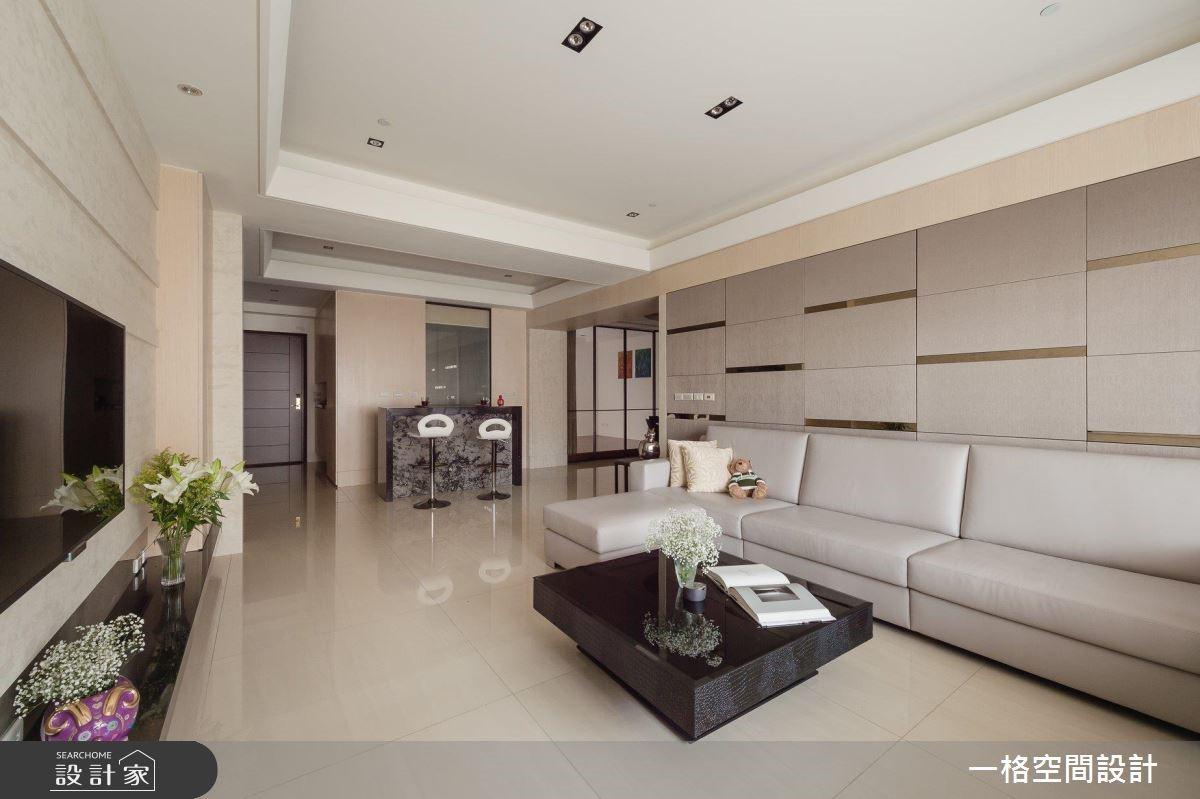 40坪預售屋_混搭風客廳案例圖片_一格設計有限公司_一格_04之5