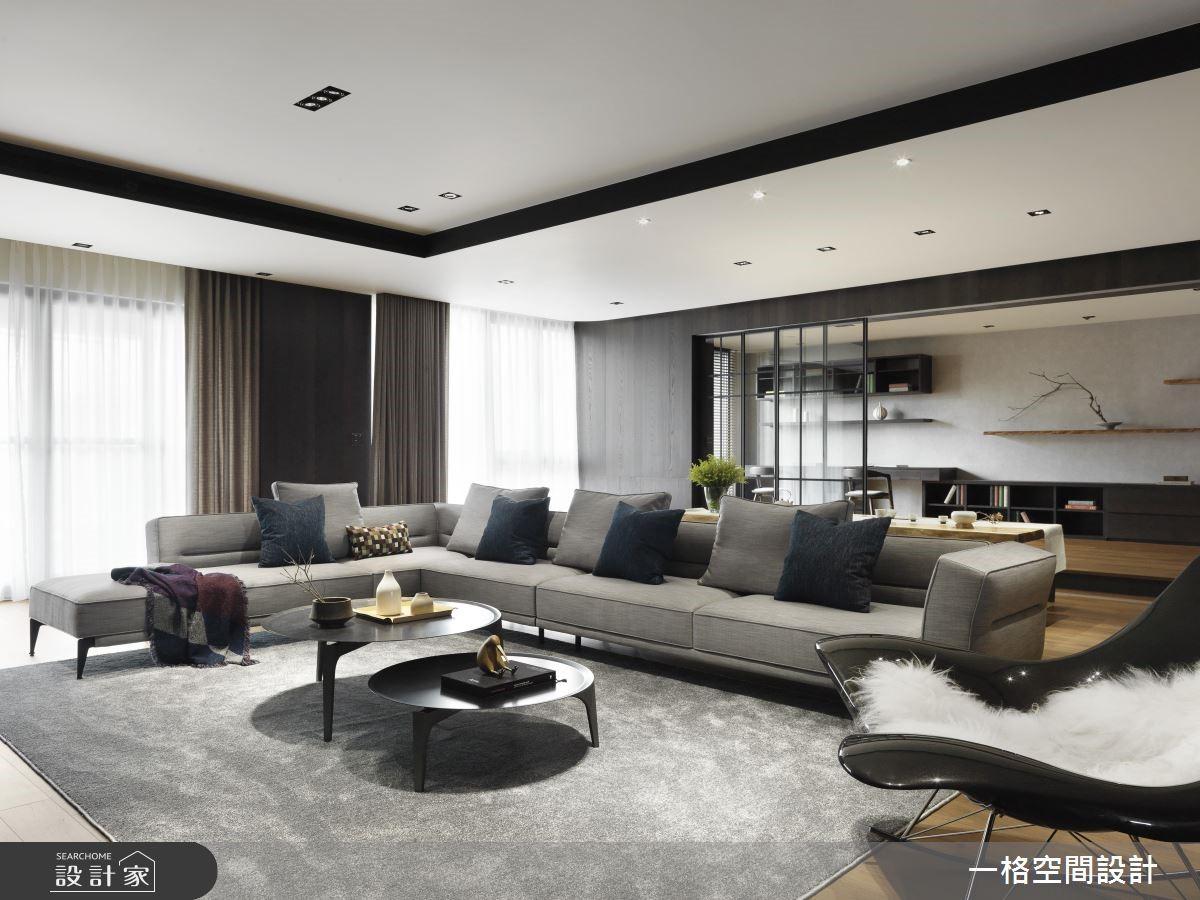 130坪新成屋(5年以下)_現代風客廳案例圖片_一格設計有限公司_一格_06之2