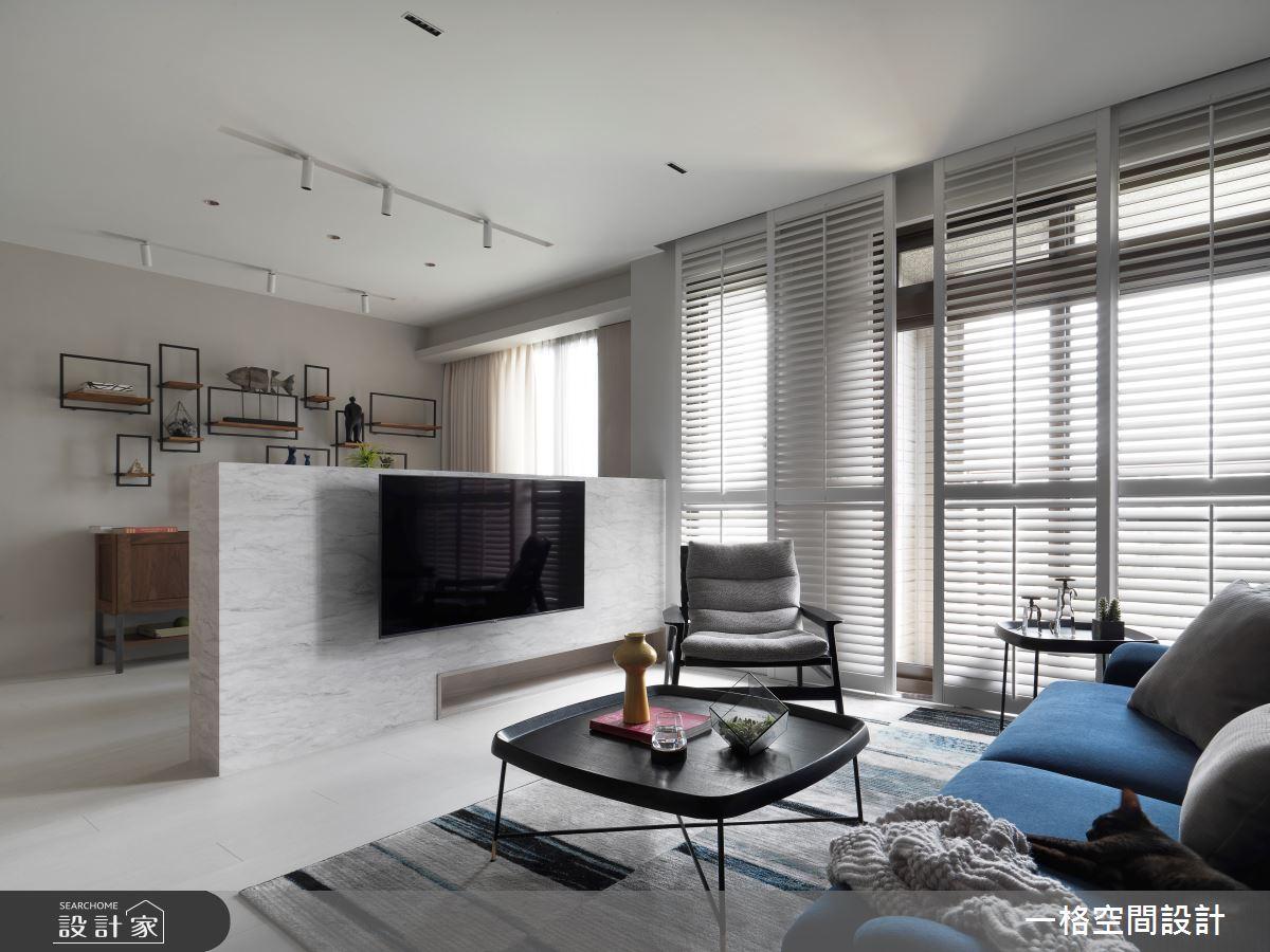 24坪新成屋(5年以下)_簡約風客廳案例圖片_一格設計有限公司_一格_07之14