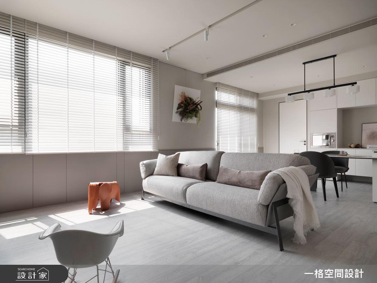 30坪新成屋(5年以下)_簡約風客廳案例圖片_一格設計有限公司_一格_11之4