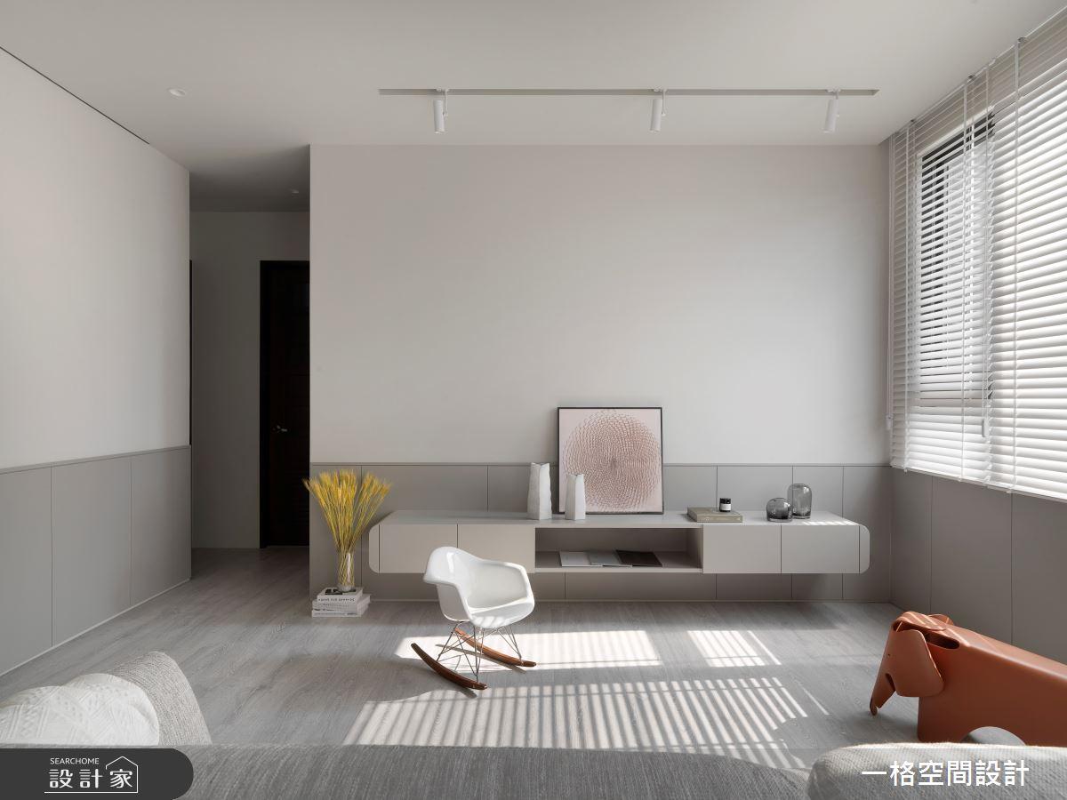 30坪新成屋(5年以下)_簡約風客廳案例圖片_一格設計有限公司_一格_11之3