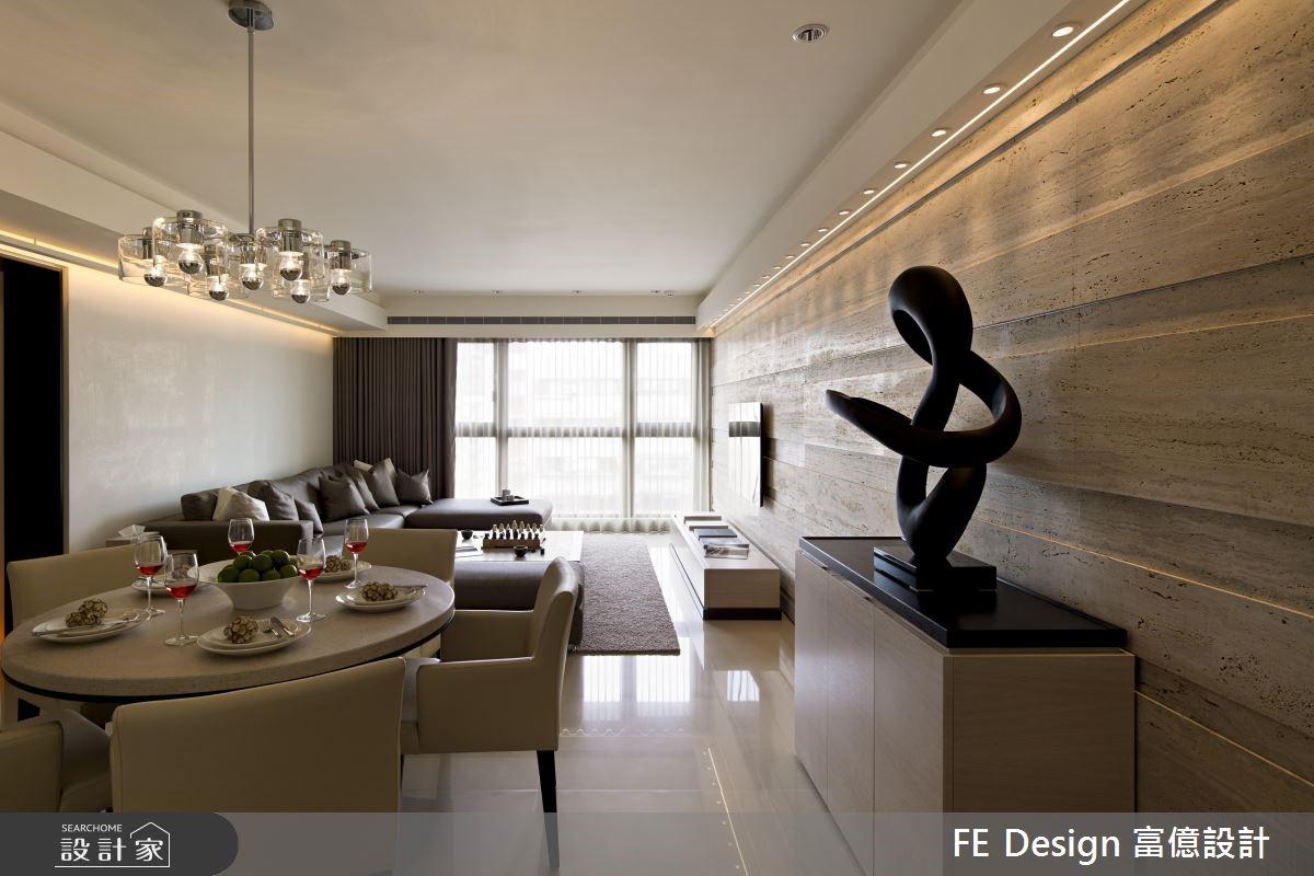 66坪新成屋(5年以下)_現代風客廳餐廳案例圖片_富億空間設計_富億_04之2