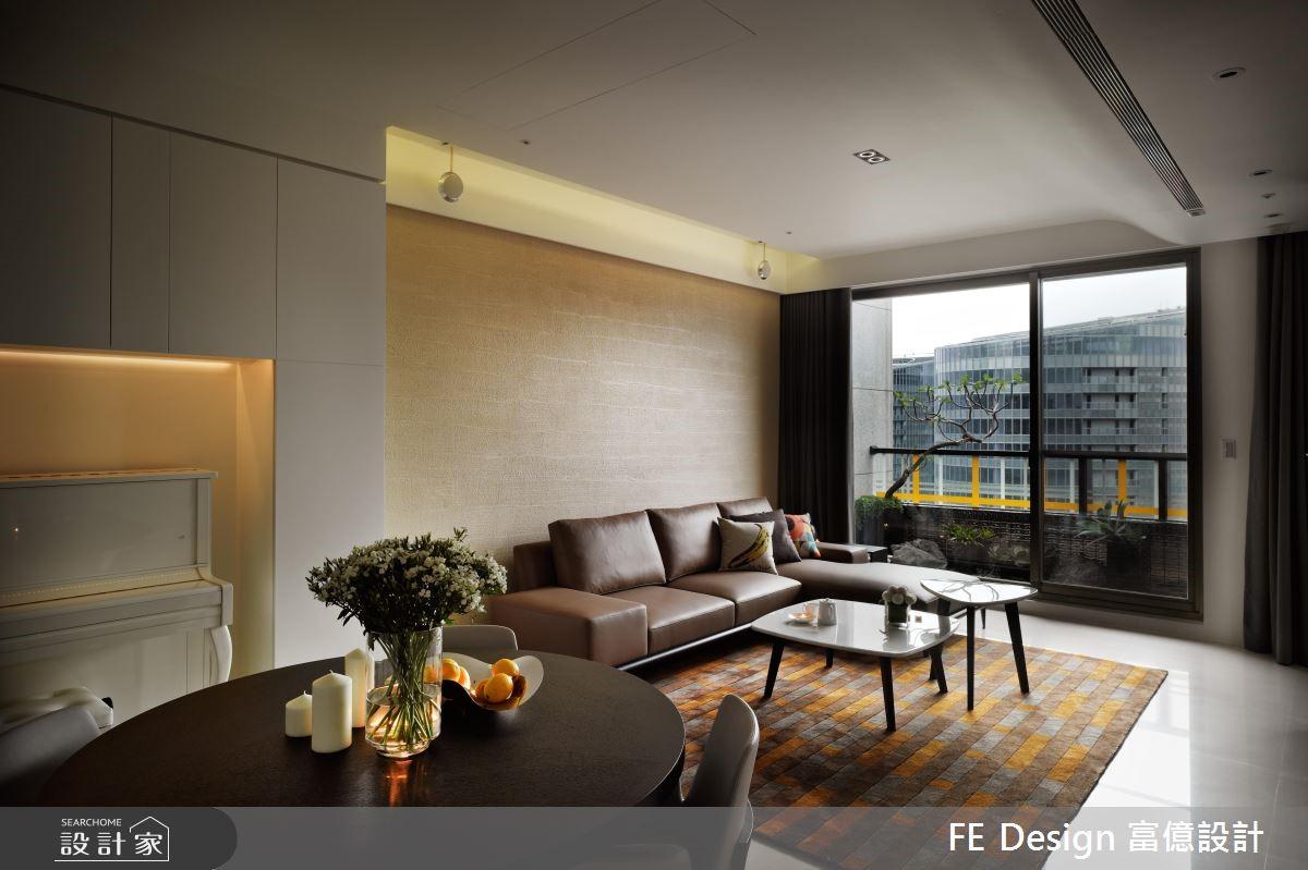 36坪新成屋(5年以下)_現代風客廳案例圖片_富億空間設計_富億_03之4
